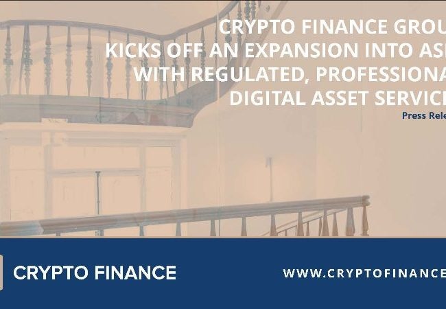 Crypto Finance Group kicks off an expansion into Asia with regulated, professional digital asset services
