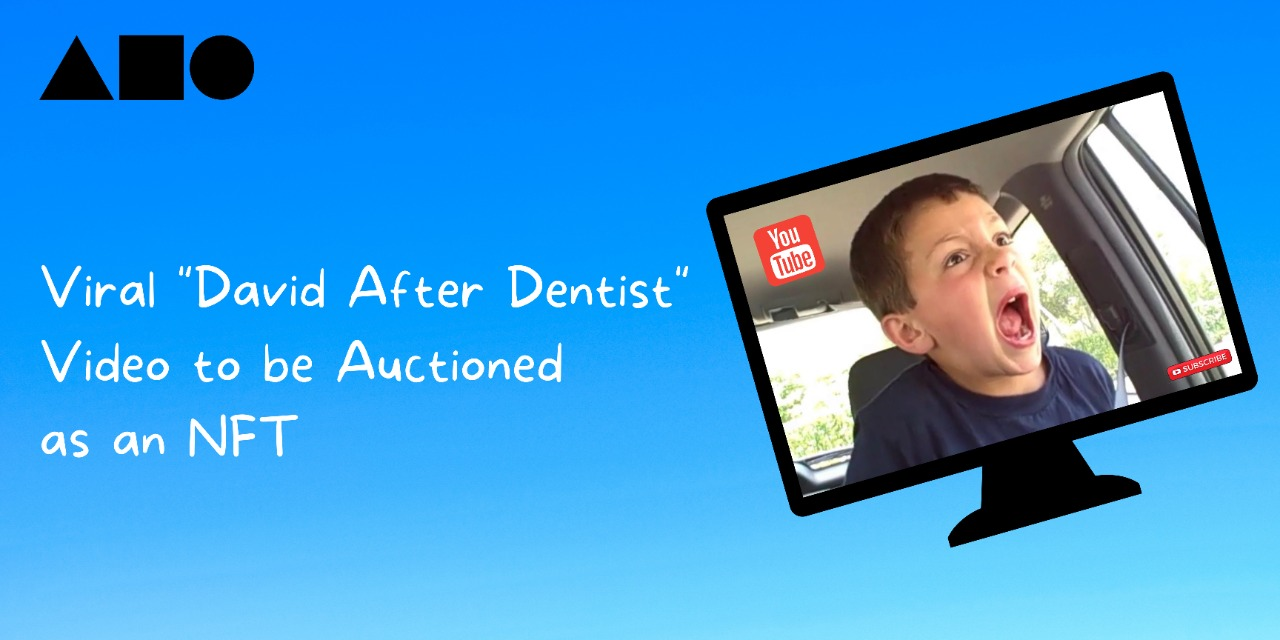 """The 2009 Viral video """"David After Dentist"""" to be Auctioned as an NFT on Foundation by the YouTube Phenomena, David DeVore"""